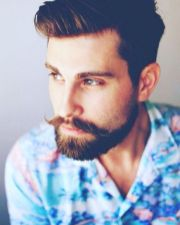 Best men short beard and mustache style 52