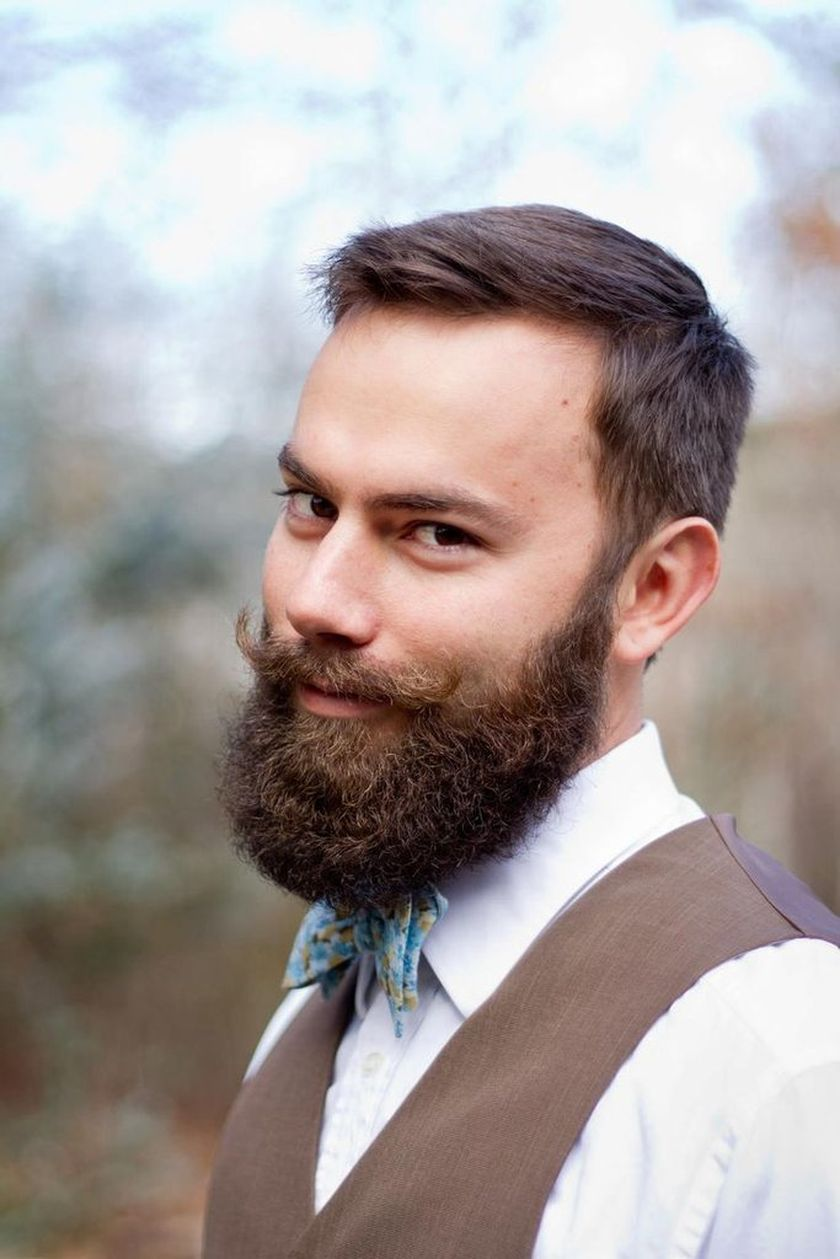 Best men short beard and mustache style 53