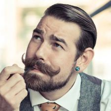 Best men short beard and mustache style 54