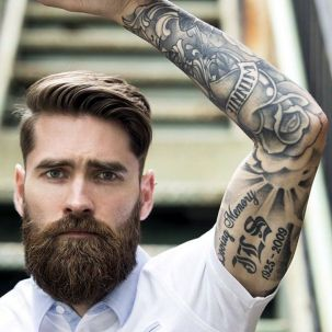 Best men short beard and mustache style 55