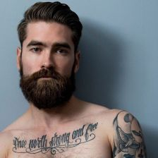 Best men short beard and mustache style 80