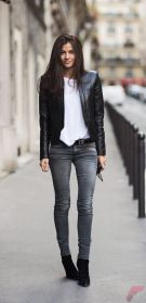 Black leather jacket outfit 18