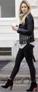Black leather jacket outfit 37