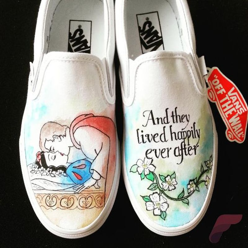 Custom painted vans shoes 10