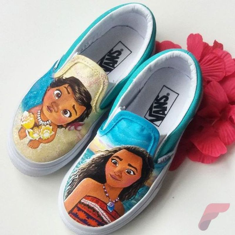 Custom painted vans shoes 11