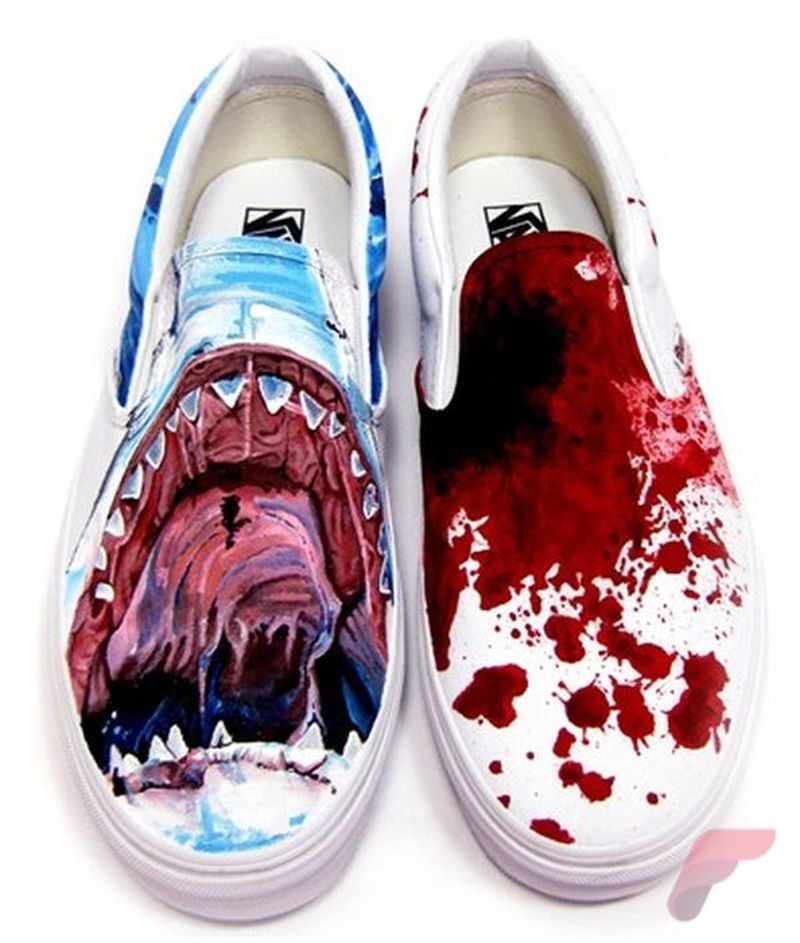 Custom painted vans shoes 16