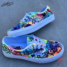 Custom painted vans shoes 17