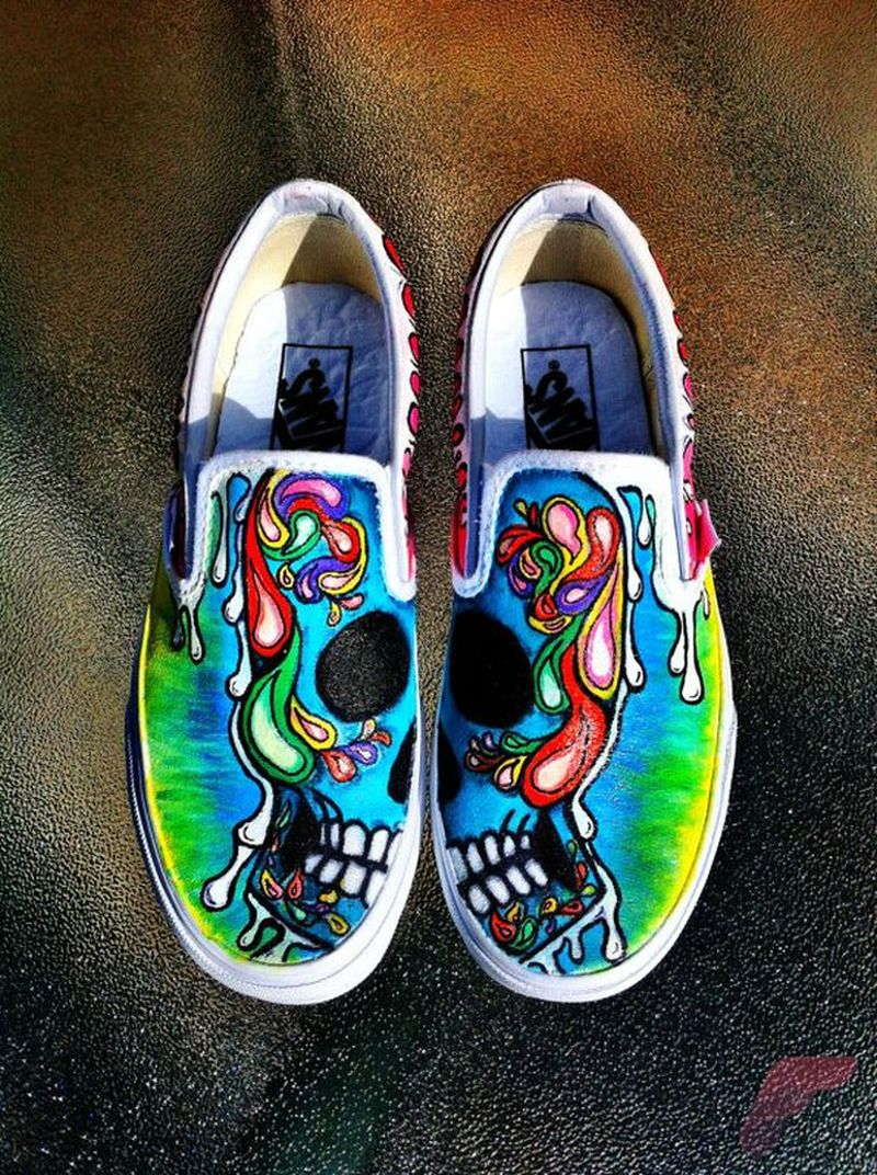 Custom painted vans shoes 22