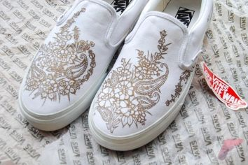 Custom painted vans shoes 28