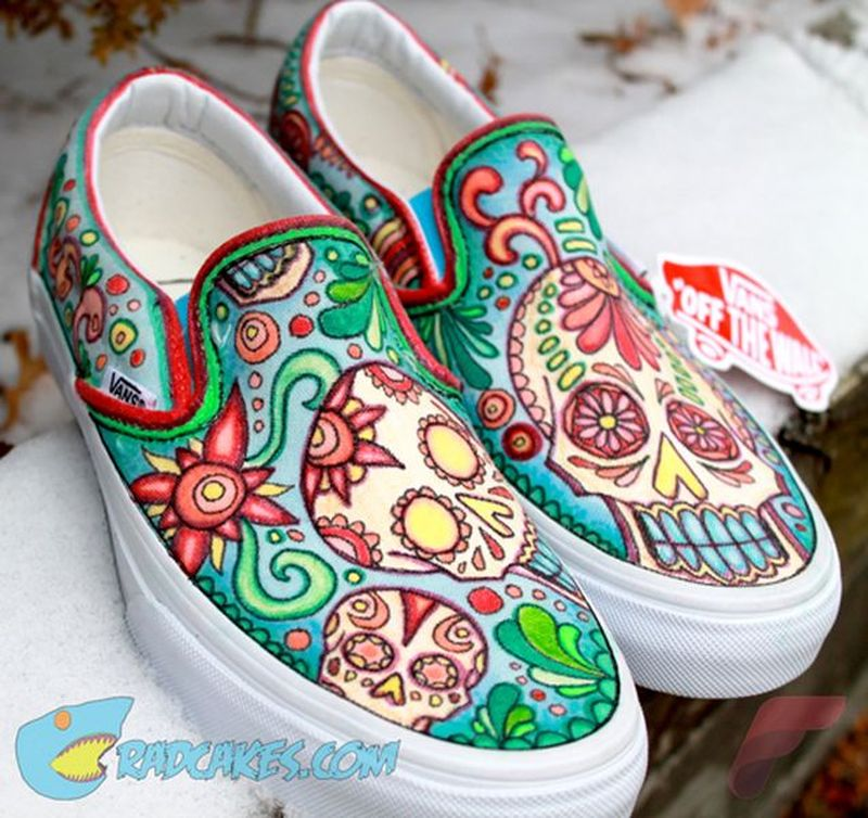 Custom painted vans shoes 41