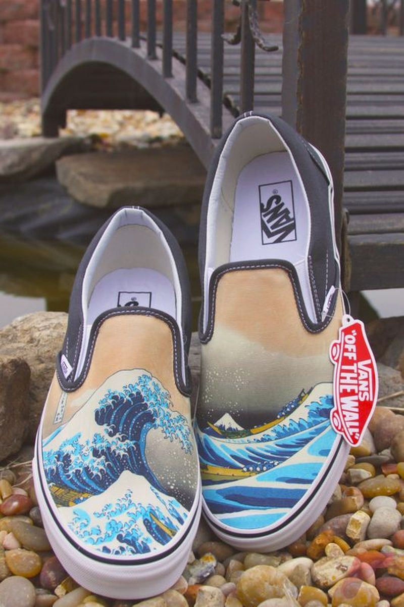 Custom painted vans shoes 43