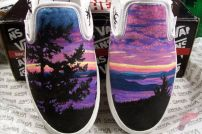 Custom painted vans shoes 50