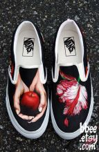 Custom painted vans shoes 52