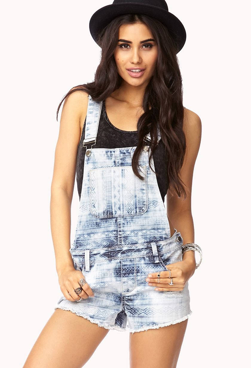 Denim overalls short outfit 33
