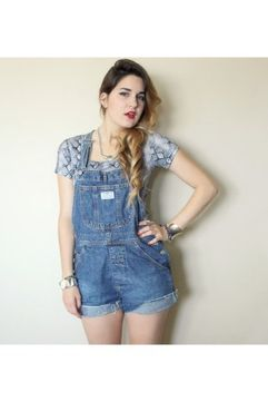 Denim overalls short outfit 56