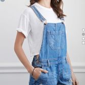 Denim overalls short outfit 62