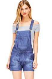 Denim overalls short outfit 85