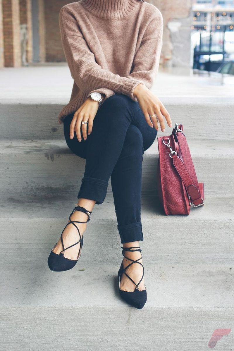 Flat lace up shoes trend 26