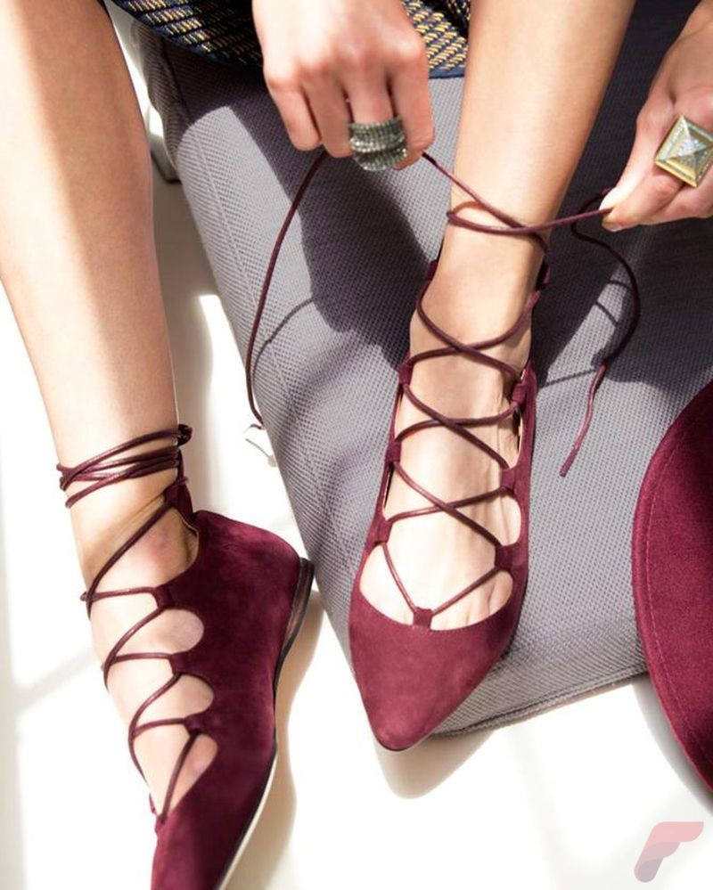 Flat lace up shoes trend 75