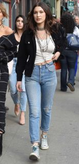 Gigi hadid sneakers outfit on the street 27