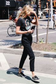 Gigi hadid sneakers outfit on the street 28