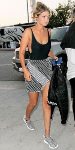 Gigi hadid sneakers outfit on the street 40