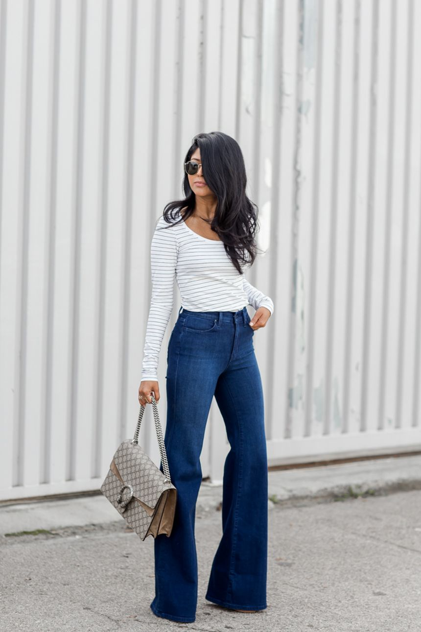 High waisted jeans outfit style 10