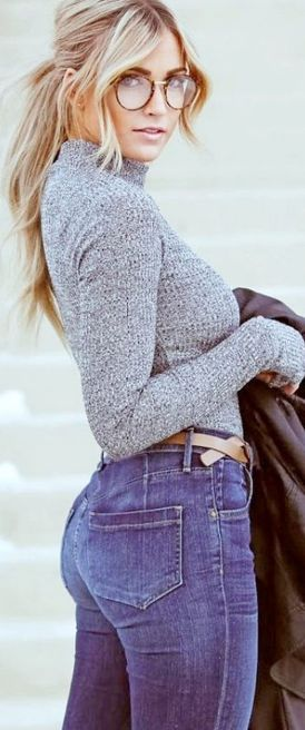 High waisted jeans outfit style 104