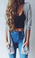 High waisted jeans outfit style 106