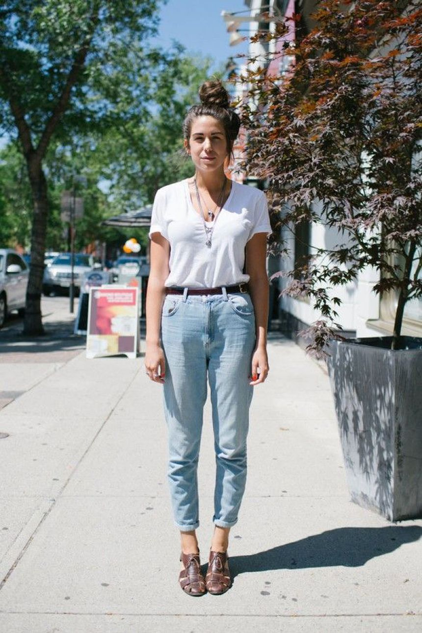 High waisted jeans outfit style 109