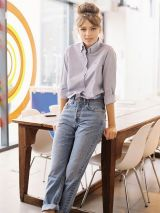High waisted jeans outfit style 112