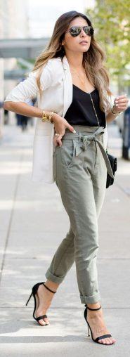 High waisted jeans outfit style 124