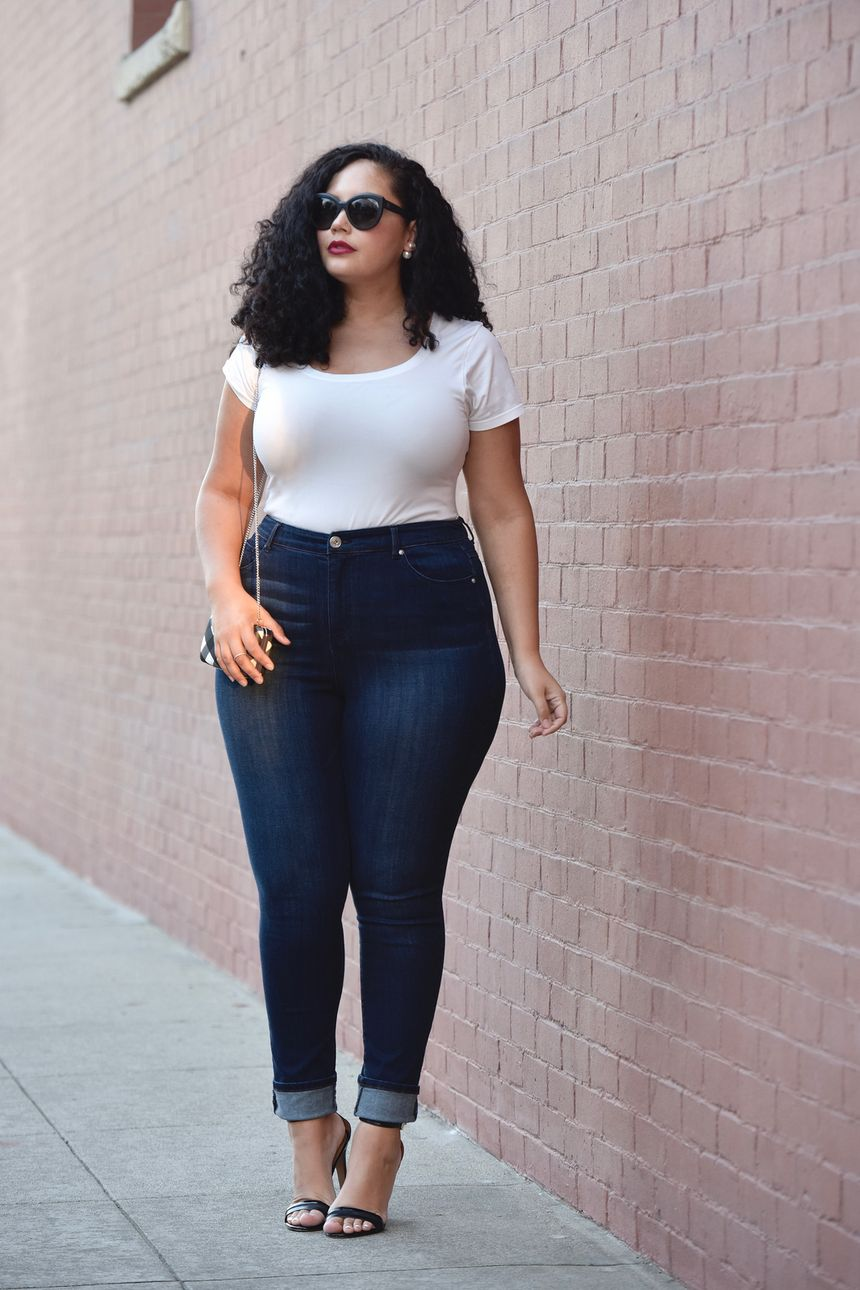 High waisted jeans outfit style 127