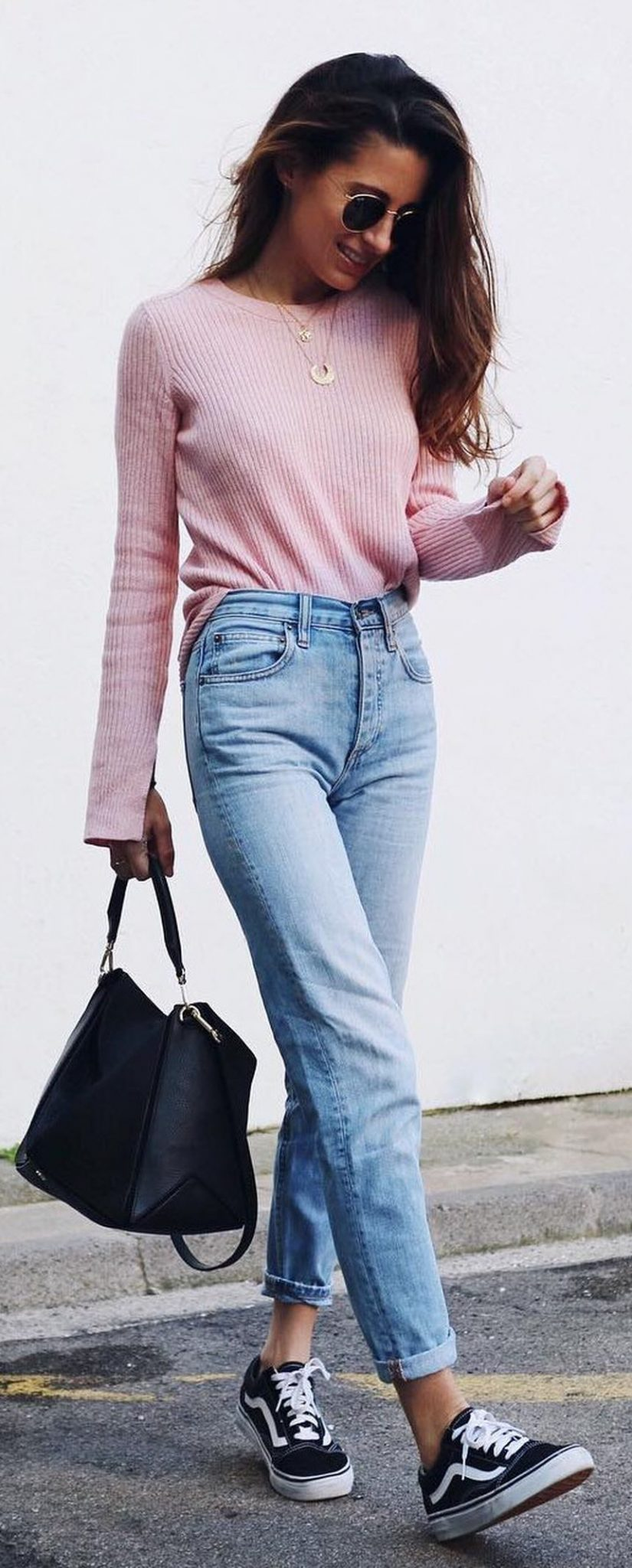 High waisted jeans outfit style 129