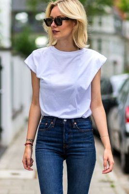 High waisted jeans outfit style 135