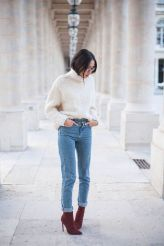 High waisted jeans outfit style 140