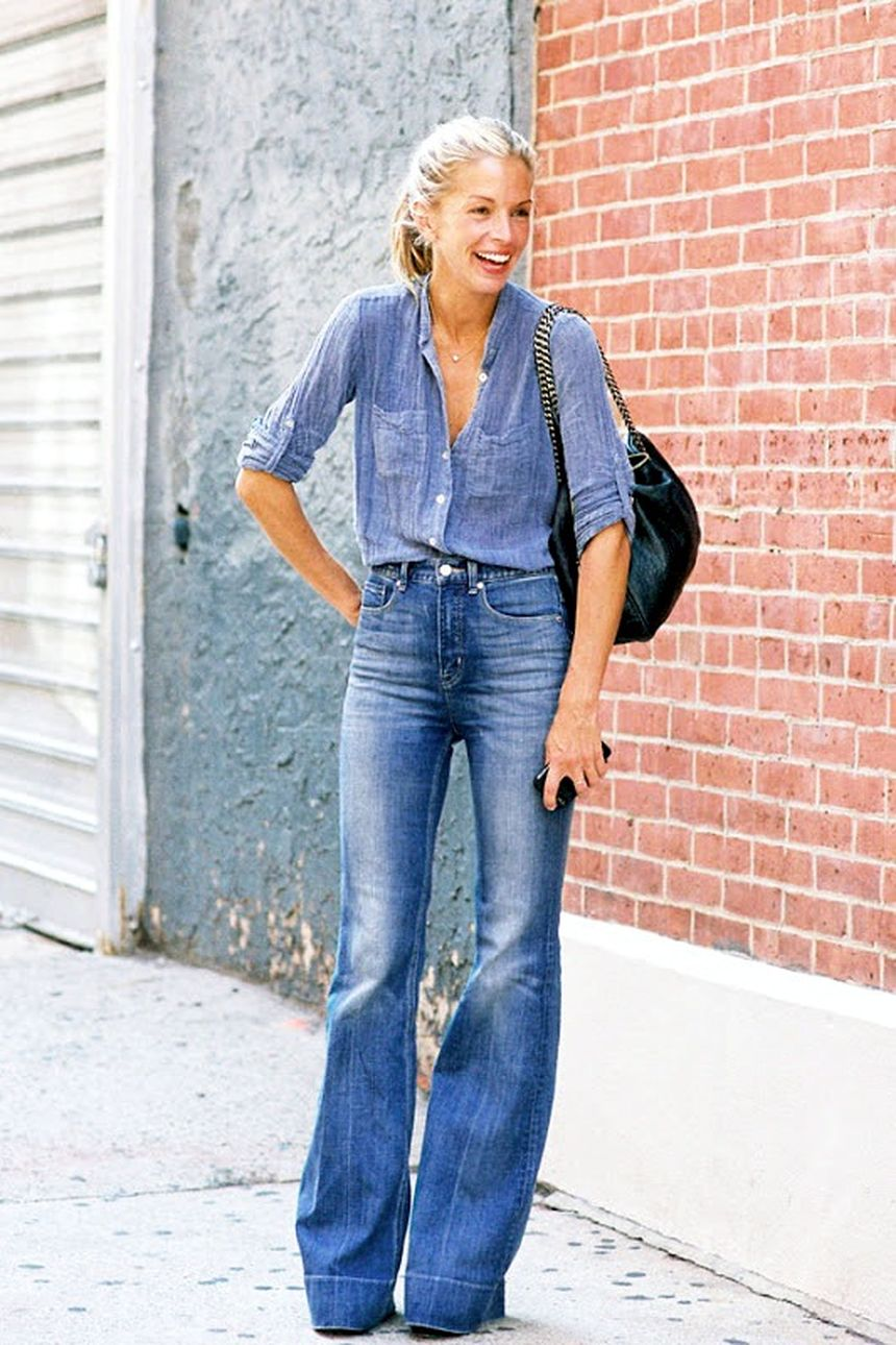 High waisted jeans outfit style 22