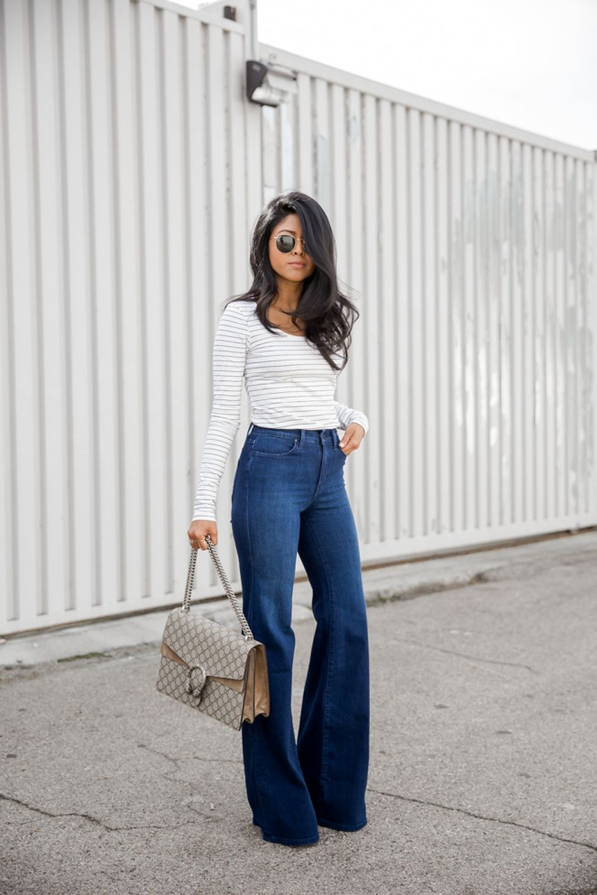 High waisted jeans outfit style 27