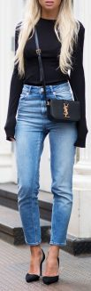 High waisted jeans outfit style 34