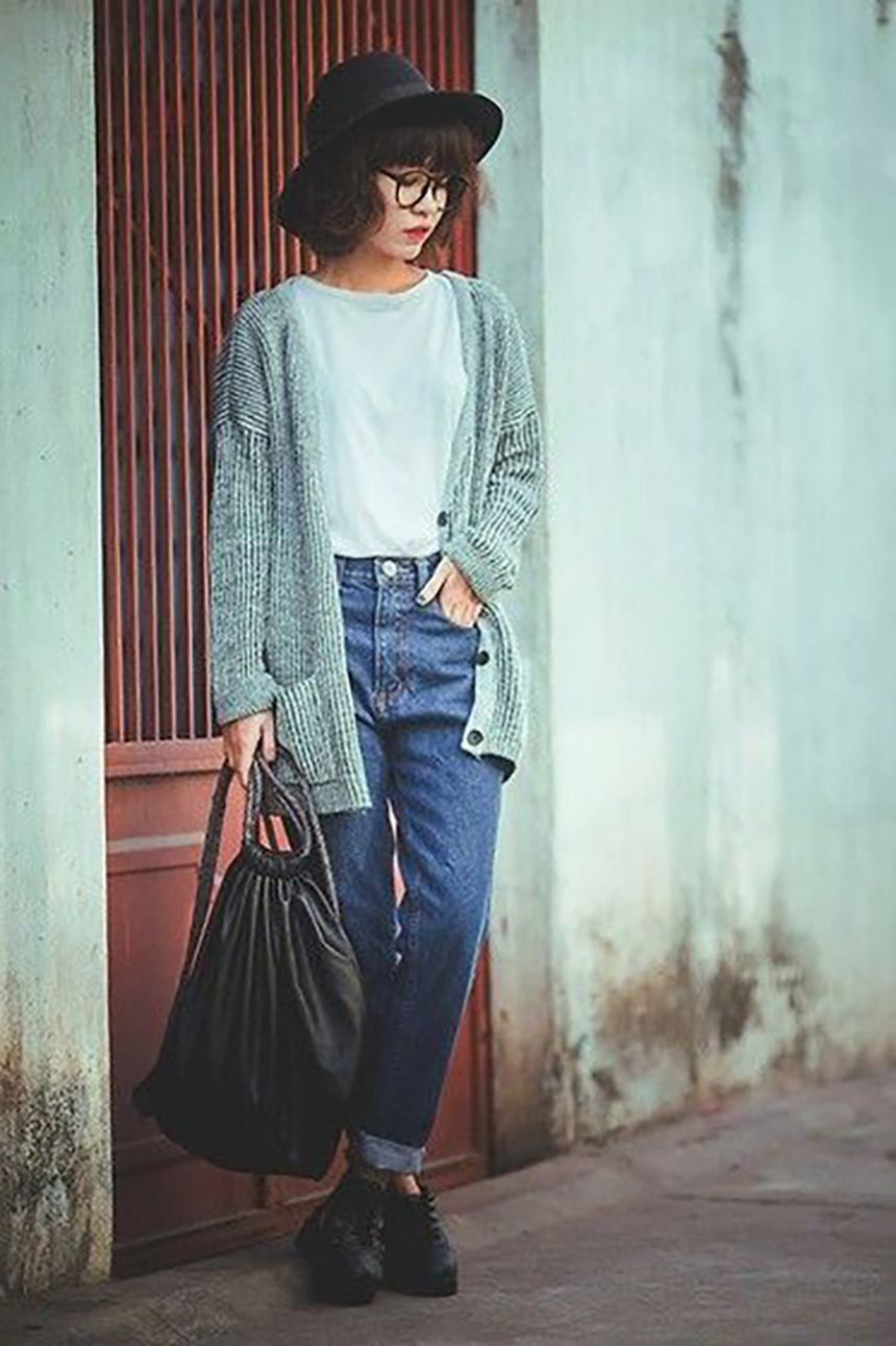 High waisted jeans outfit style 57