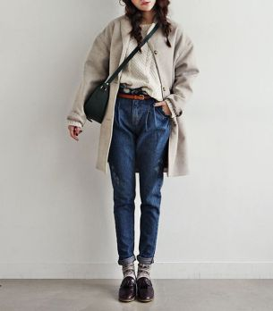 High waisted jeans outfit style 6