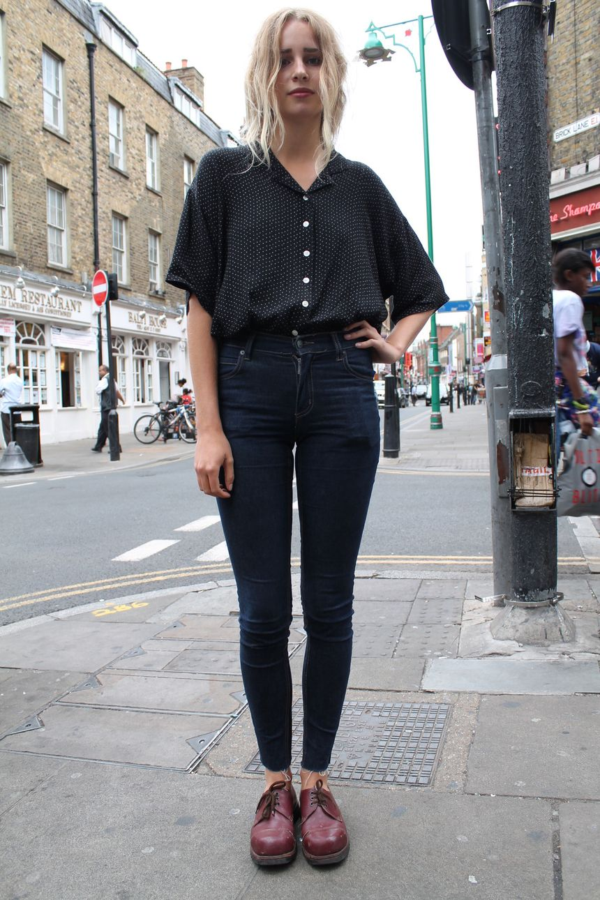 High waisted jeans outfit style 67