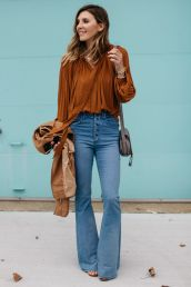High waisted jeans outfit style 69