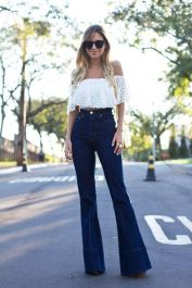 High waisted jeans outfit style 99