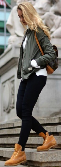 Ideas how to wear timberland boots for girl 4
