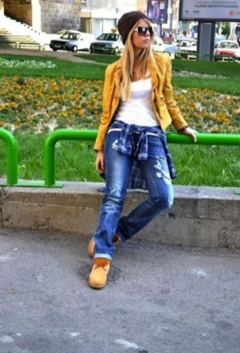 Ideas how to wear timberland boots for girl 44