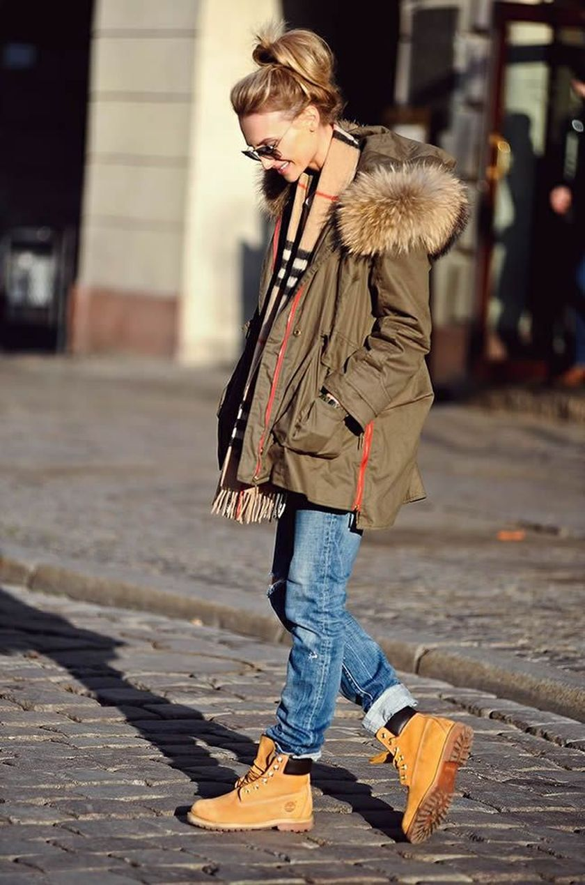 Ideas how to wear timberland boots for girl 5