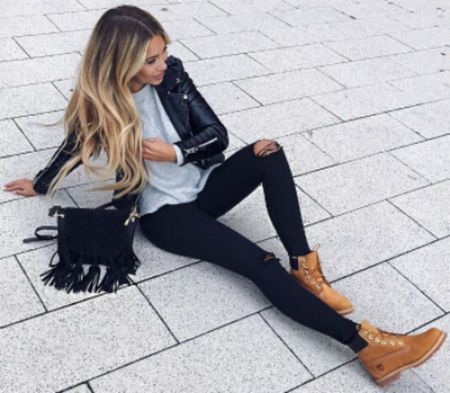 Ideas how to wear timberland boots for girl 56