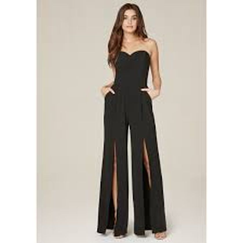 Jumpsuits strapless outfit 2