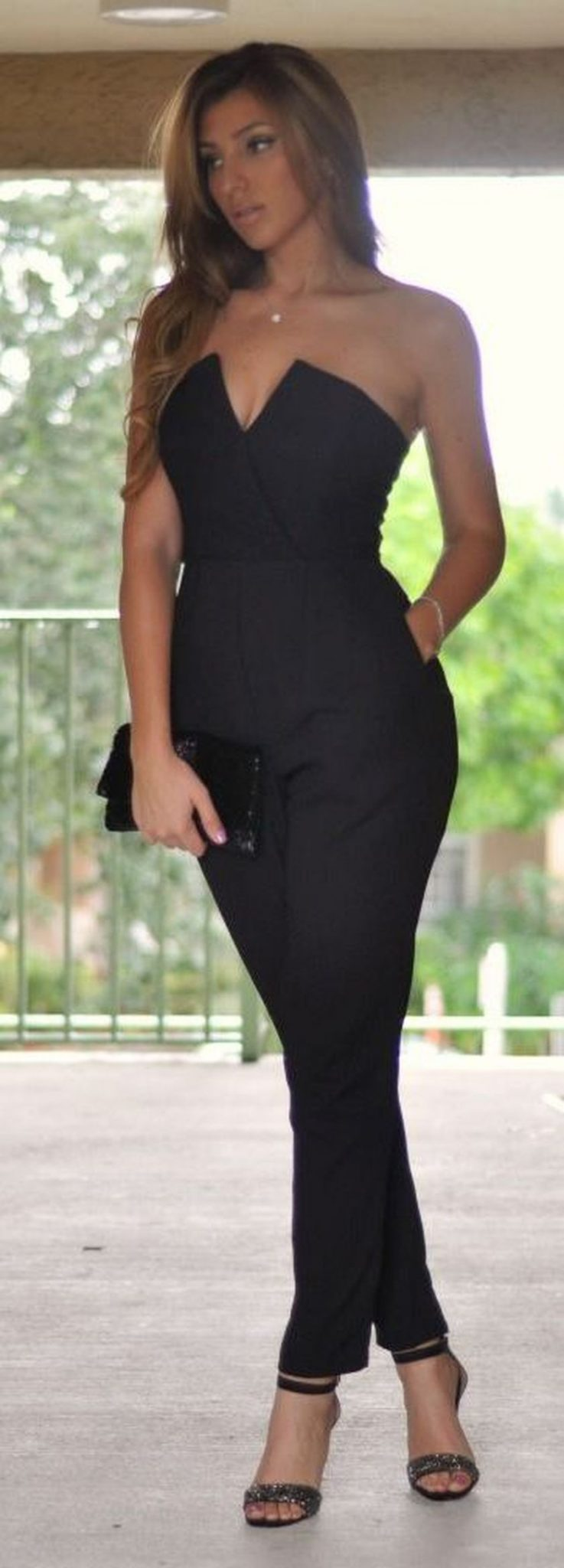 Jumpsuits strapless outfit 31